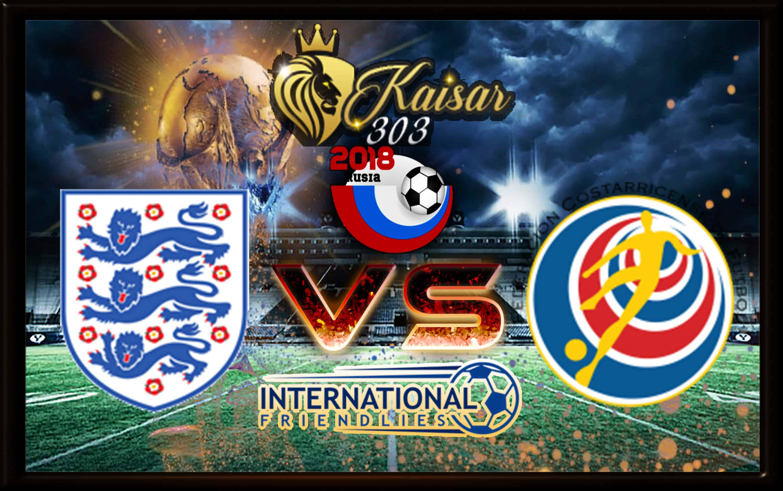 Predictive score Inggris Vs Kosta Rika 8 Juni 2018