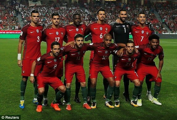 PORTUGAL team football 2018